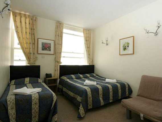 Triple rooms are spacious and great for friends and family sharing