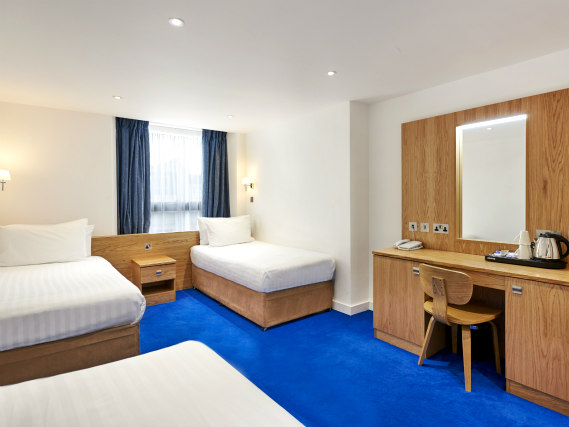 Quad rooms at Central Park Hotel are the ideal choice for groups of friends or families