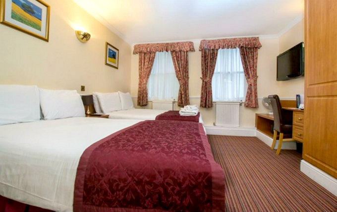 A typical quad room at Brunel Hotel