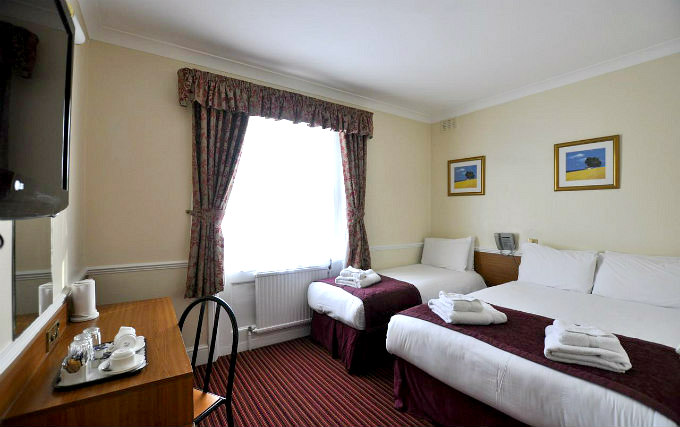 A typical triple room at Brunel Hotel