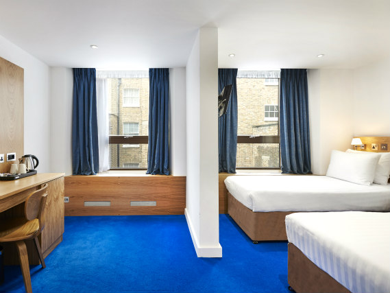 A twin room at Central Park Hotel London is perfect for two guests