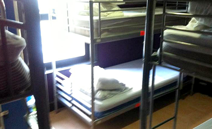 A typical dorm room at Phoenix Hostel London