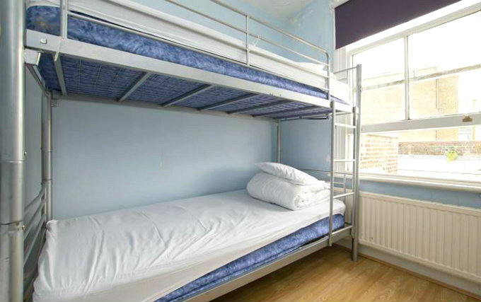 A twin room at Queen Elizabeth Hostel Hammersmith