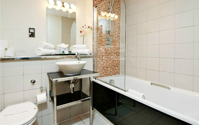 A typical bathroom at Somerset Bayswater Apartments