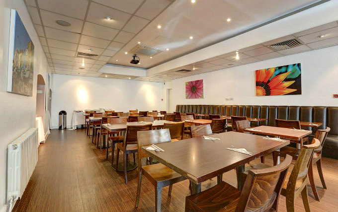 Relax and enjoy your meal in the Dining room at Euston Square London