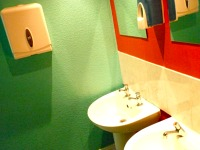 Double sinks at Venture Hostel