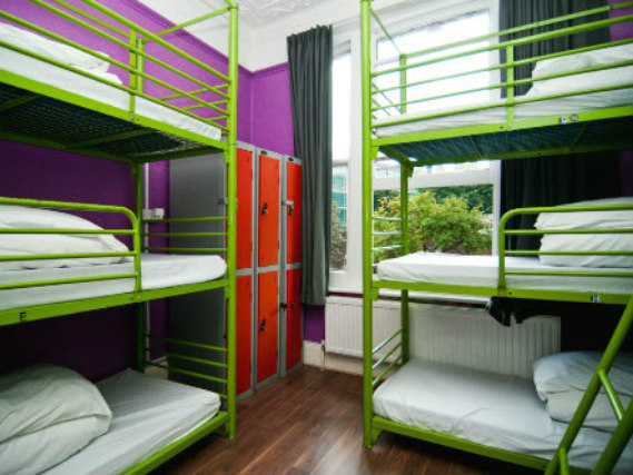A typical dorm room at Venture Hostel