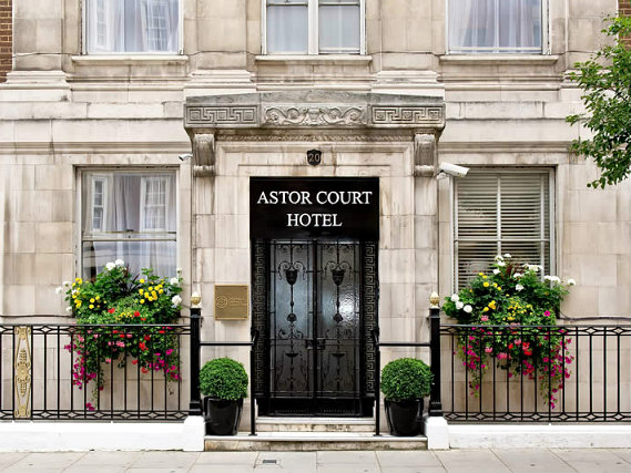 The Astor Court Hotel's welcoming entrance