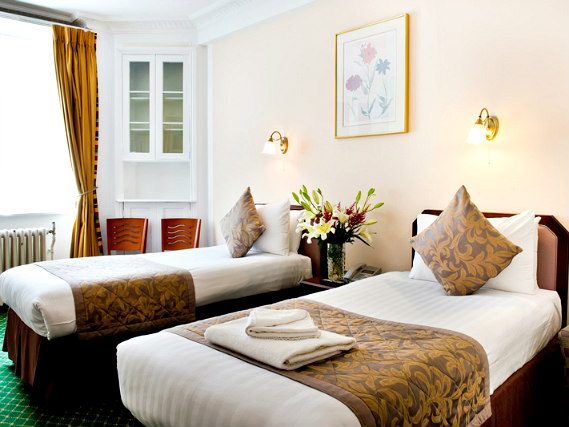 A twin room at Astor Court Hotel is perfect for a two guests