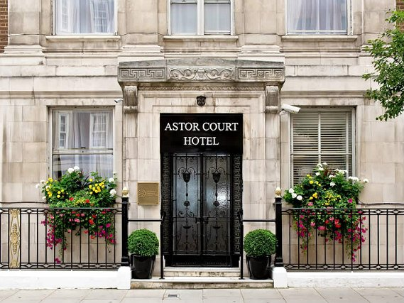 The exterior of Astor Court Hotel