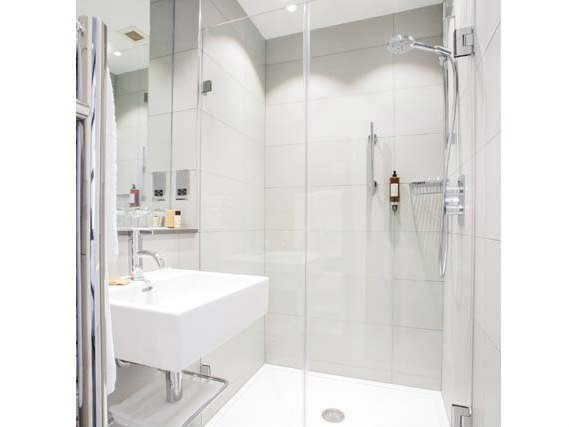 A typical shower system at Astor Court Hotel