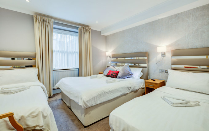 Family room at the The Admiral Hotel are great value for money allowing you to spend more exploring London