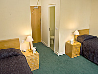 Twin room setup at Beit Hall London