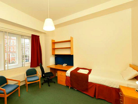 Single rooms at Beit Hall London provide privacy