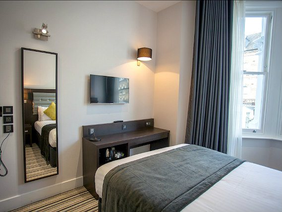 Single rooms at The W14 Hotel London provide privacy