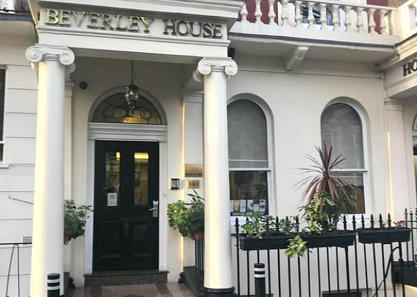 The entrance to Beverley City Hotel