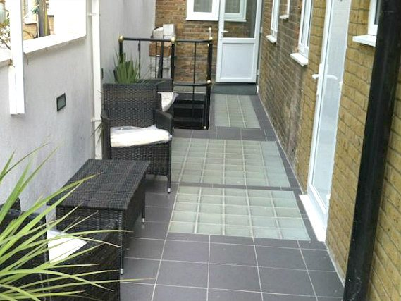 The attractive terrace