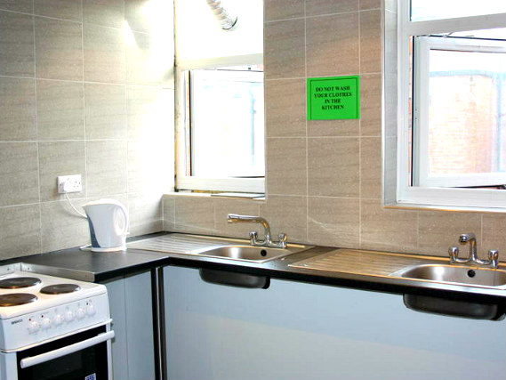 You'll even find refurbished communal kitchens on each floor, perfect for saving money by making your own meals