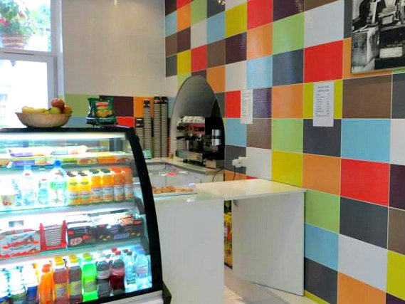 Enjoy a fresh coffee and snacks at the Hammersmith Rooms coffee shop