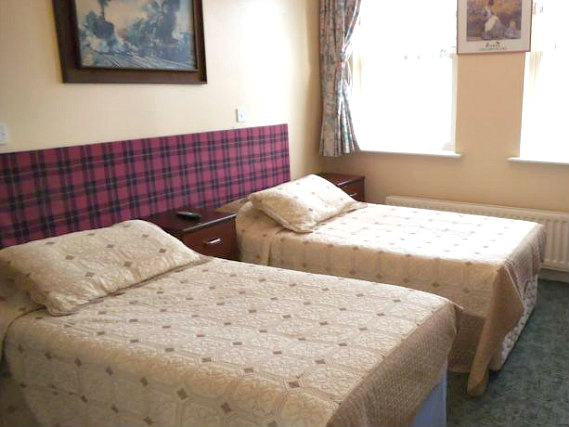 A typical room at Fountain House Hotel