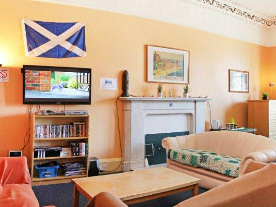 Relax in the lounge at St Andrews Tourist Hostel
