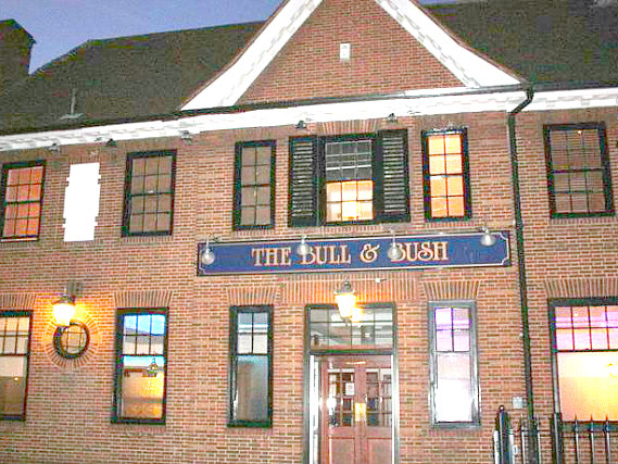An exterior view of Bull and Bush Hotel