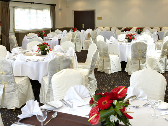 The beautiful wedding room at Best Western Cumberland Hotel