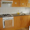 London hostel kitchen