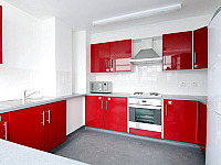 Marylebone Hall has clean and stylish shared Kitchens
