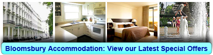 Accommodation in Bloomsbury, London