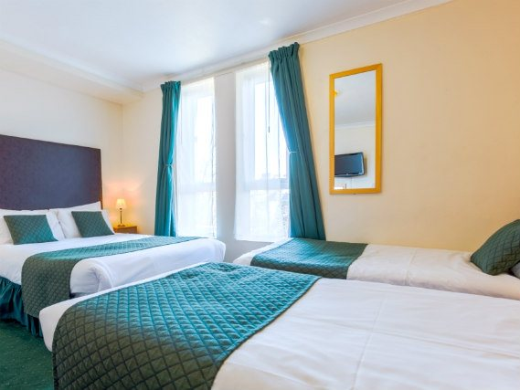 Quad rooms at London Town Hotel are the ideal choice for groups of friends or families