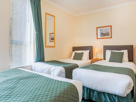 Enjoy plenty of space and comfort in your well priced triple share room