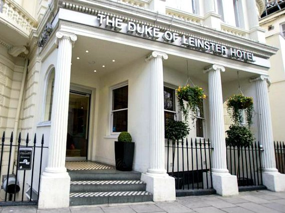 The Duke of Leinster Hotel's welcoming entrance