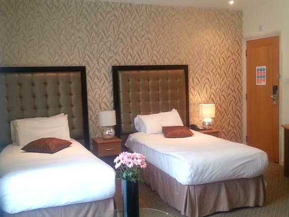 A twin room at Duke of Leinster Hotel is perfect for two guests