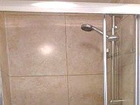 A typical shower system at Kings Cross Hotel London