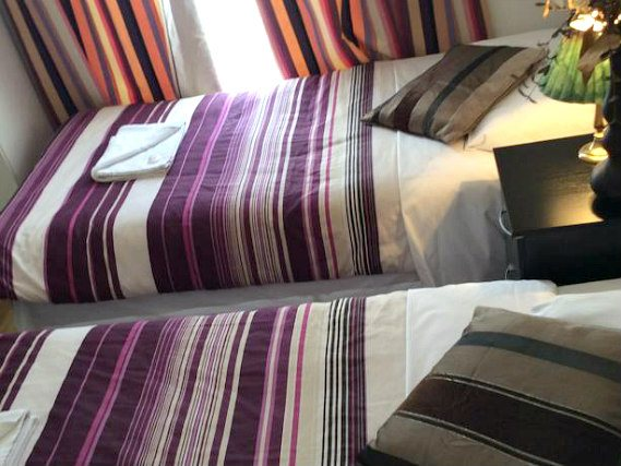 A twin room at Kings Cross Hotel London is perfect for two guests