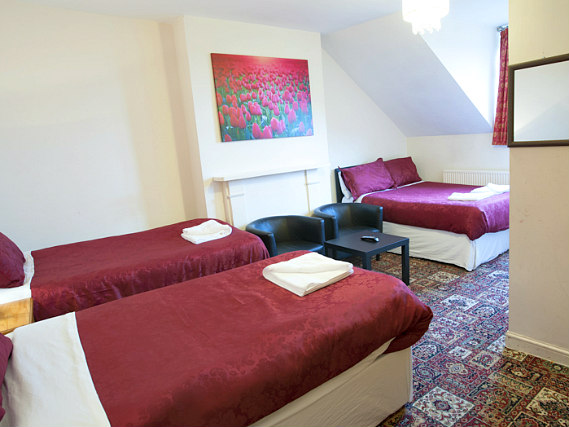 Quad rooms are the ideal choice for groups of friends or families