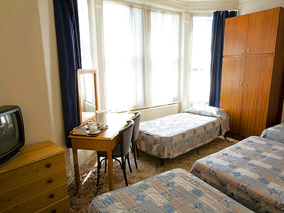 Quad rooms at Queens Hotel Tufnell Park are the ideal choice for groups of friends or families