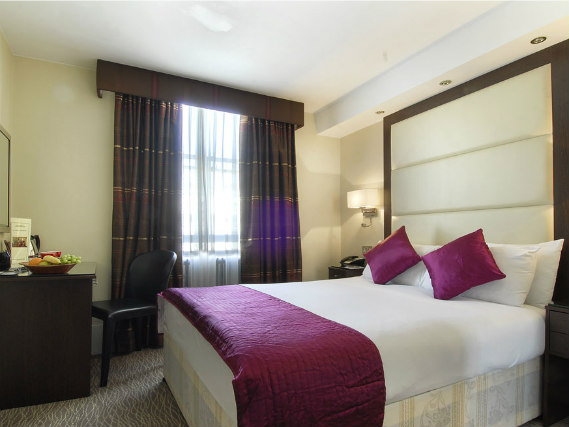 Get a good night's sleep in your comfortable room at Grand Royale London