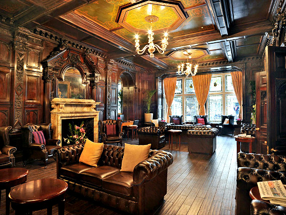 Relax in the lounge at Grand Royale London