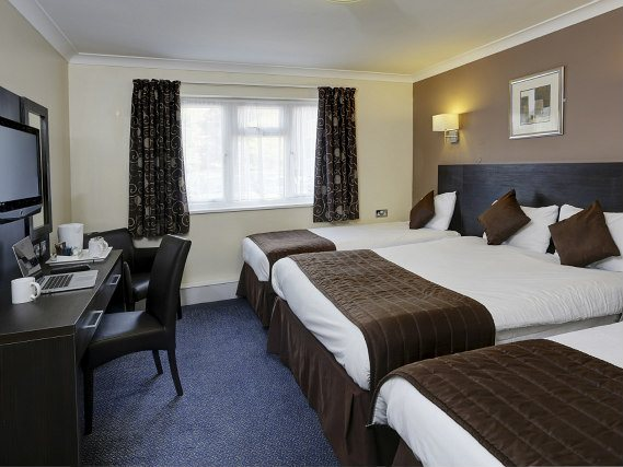 Quad rooms at Best Western Gatwick Skylane Hotel are the ideal choice for groups of friends or families