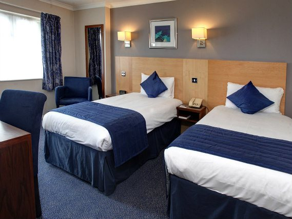 A twin room at Best Western Gatwick Skylane Hotel is perfect for two guests