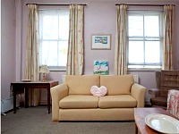 Sash windows in the living room