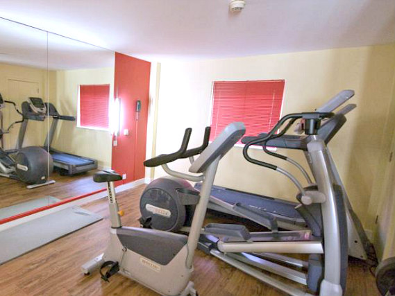 Gym at Secret 3 Star Hotel North London
