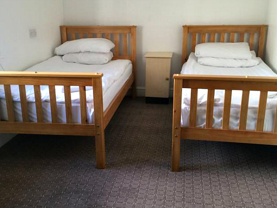 Twin room at Lindal Hotel