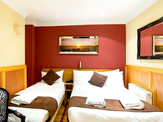 Triple rooms at Albion House Hotel are the ideal choice for groups of friends or families