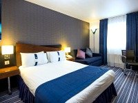 A double bedroom at the Holiday Inn Express Royal Docks