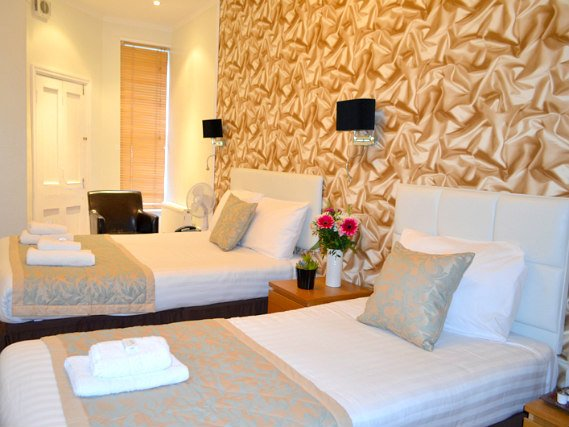 Triple rooms are comfortable and have all the creature comforts you would expect from a 3* hotel