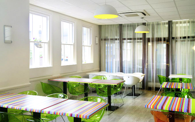 Relax and enjoy your meal in the Dining room at Ibis Styles London Croydon