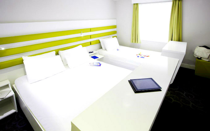 A typical triple room at Ibis Styles London Croydon